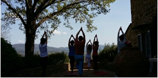 Slow down with a Chianti yoga experience with Km Zero Tours Slow Travel Tuscany