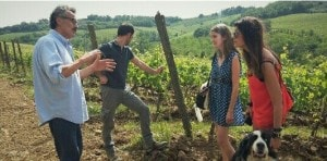 Franco explain to our gusts how a good organic and natural wine is produced -Wine Tour Chianti - Km Zero Tours - Slow Travel Tuscany 300x148